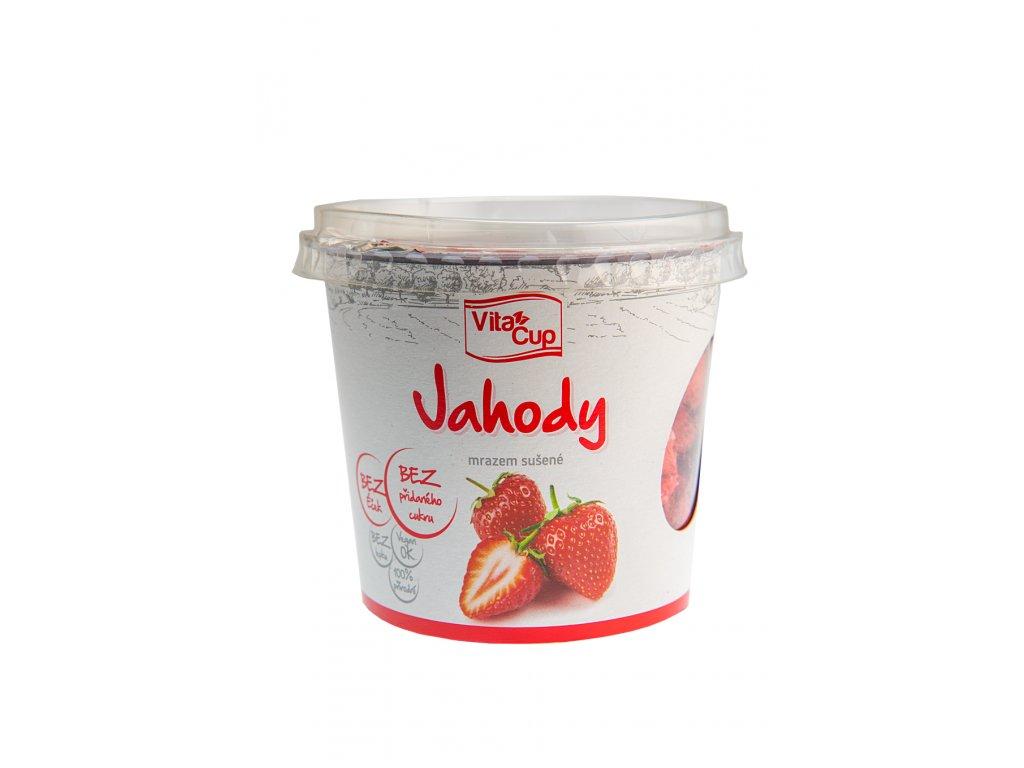 K-SERVIS VitaCUP Jahody - plátky sušené mrazem 20 g