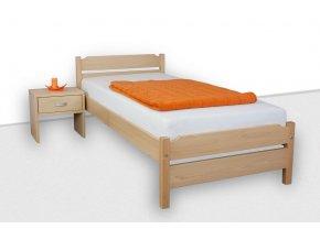 Jednolůžková postel z masivu MELA