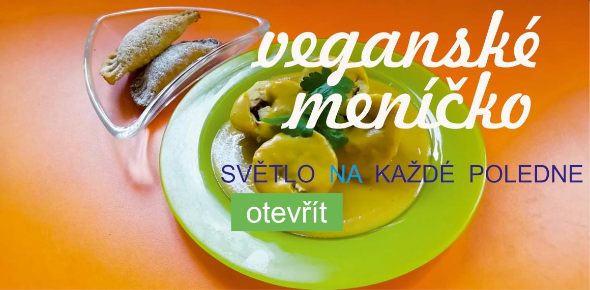 veganské menu s raw dezertem v bio boxu