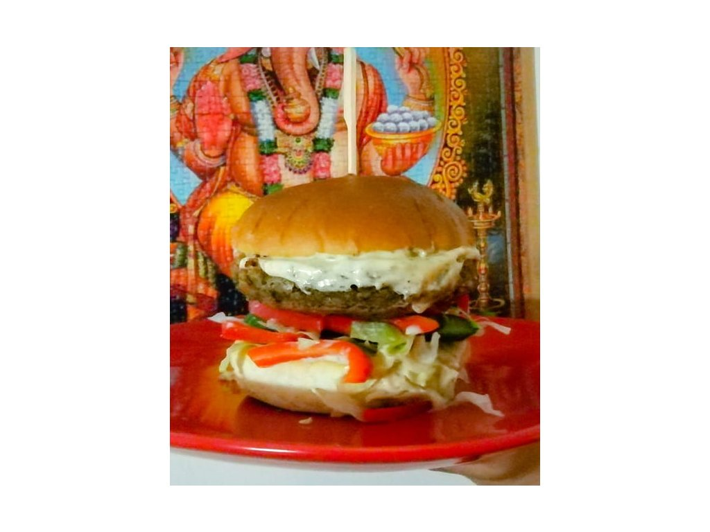 vegan burger-cizrnovy