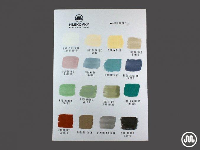 Vzorník barev na papíře