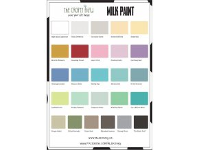 Vzorník barev Milk Paint
