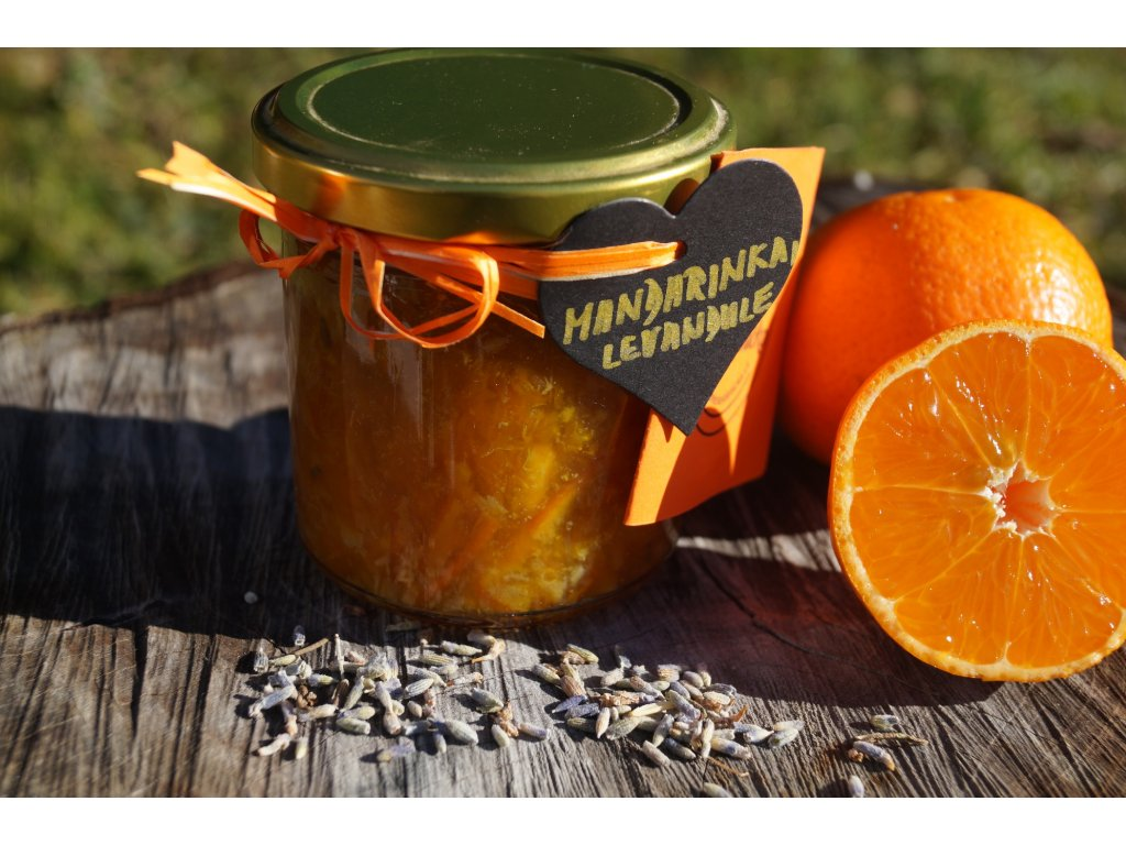 Mandarinková marmeláda s levandulí