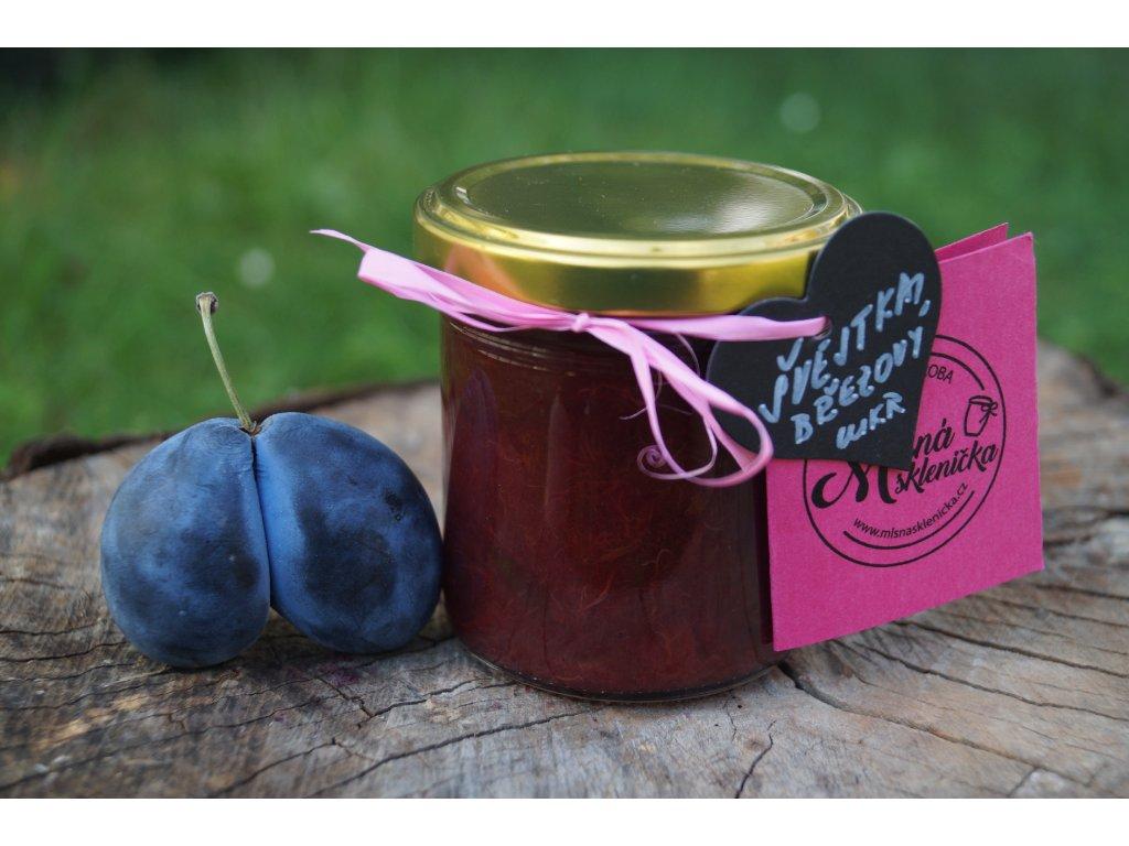 Švestkový džem s březovým cukrem a perníkovým kořením