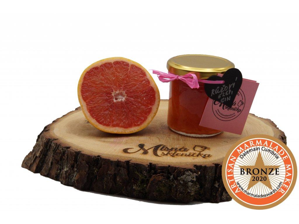 Marmelada Růžový grep s ginem (Bronze madaile 2020)