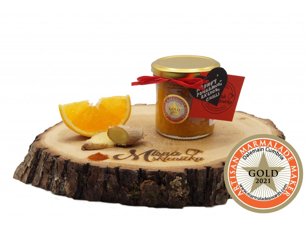 Dzem Krvavy pomeranc, zazvor a chilli (gold 2021)