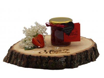 Jahodový džem s bezovým květem