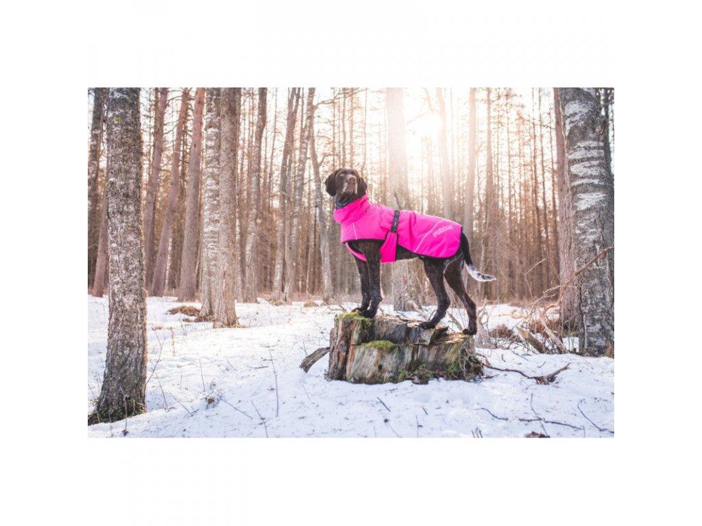 warmup coat hot pink