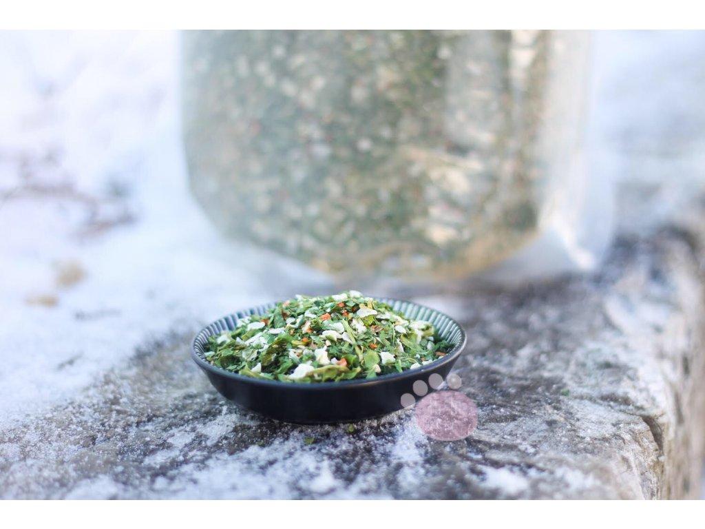 ryžové vločky s mrkvou a ľanovými semenami