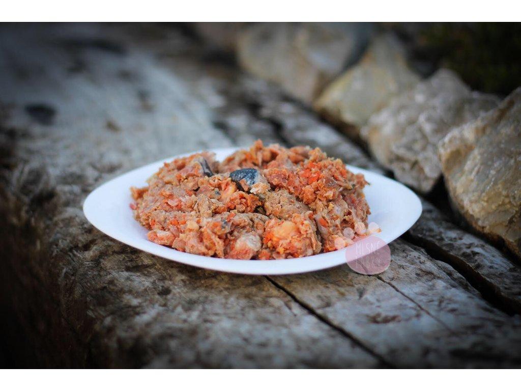 menu krava, morka a losos