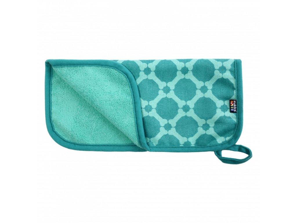 micro paw towel emerald