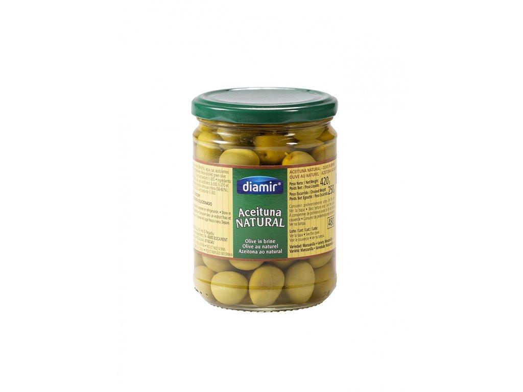 "Olivy manzanilla""natural sklenice 480 ml"""