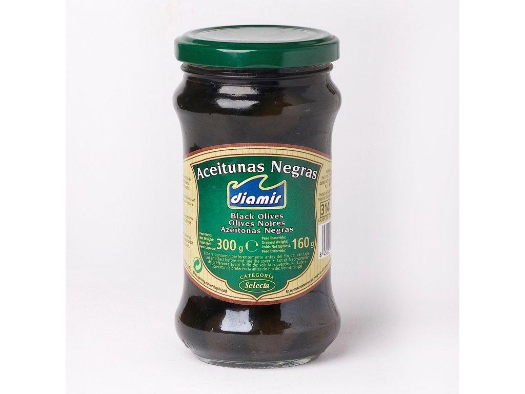 Černé olivy sklenice 314 ml
