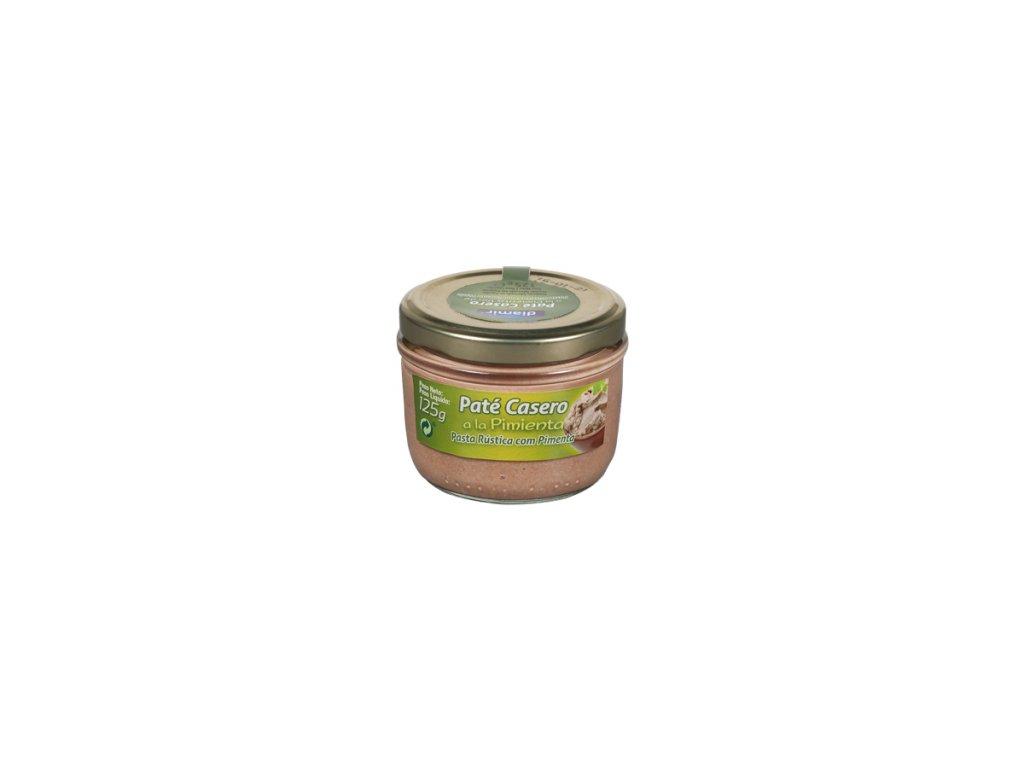 Paštika  domácí se zeleným pepřem 125 g