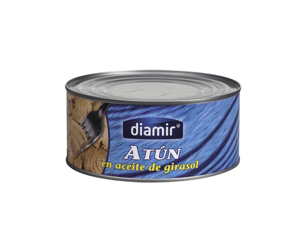 Tuňák v rostlinném oleji kousky