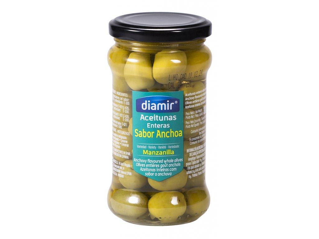 Olivy manzanilla s příchutí ančoviček