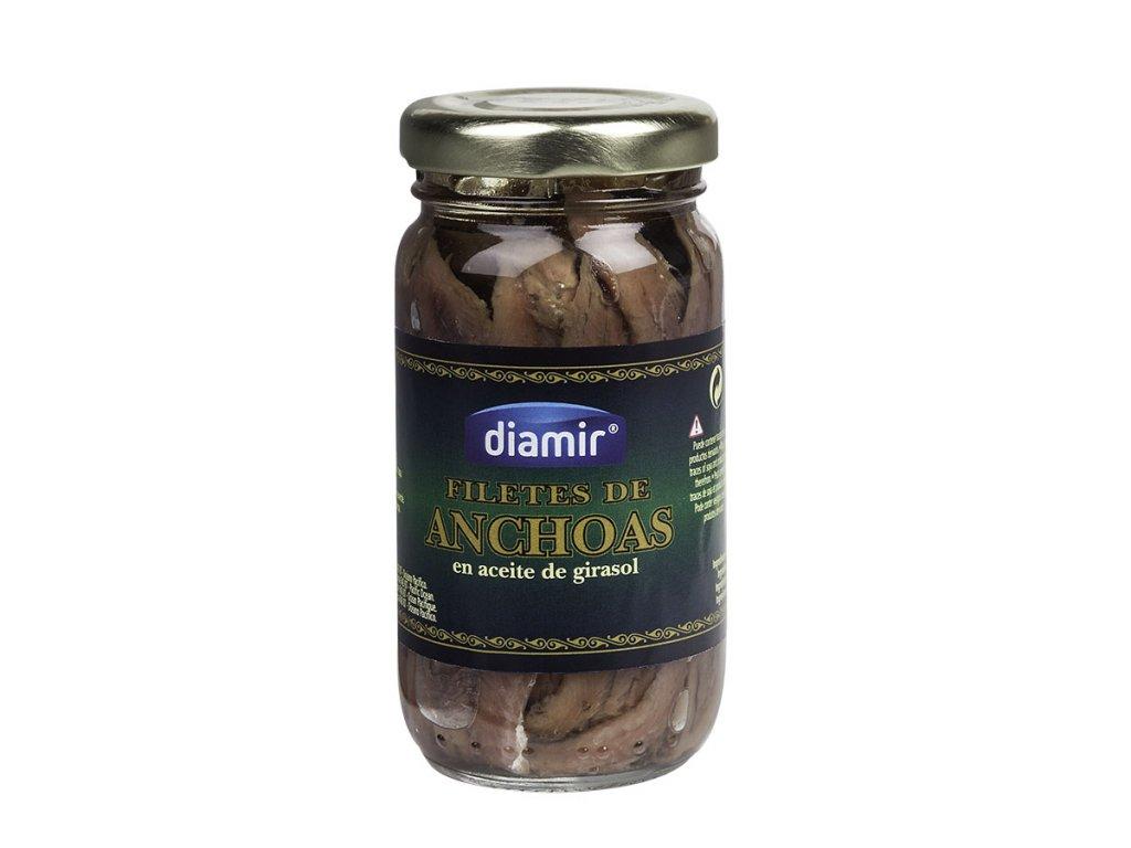 Ančovičky v oleji sklenice 90 g