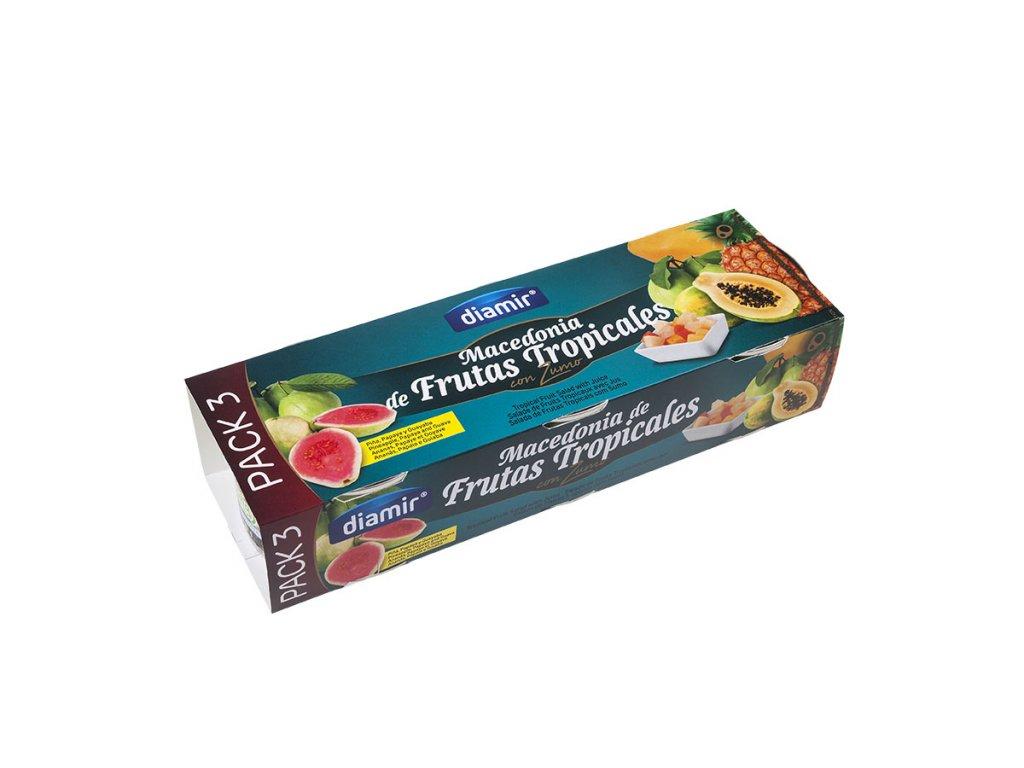 Makedonský koktejl z tropického ovoce v džusu pack-3