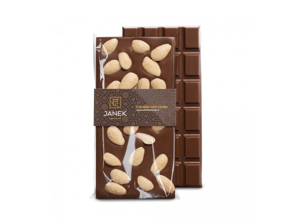 Mléčná čokoláda s mandlemi