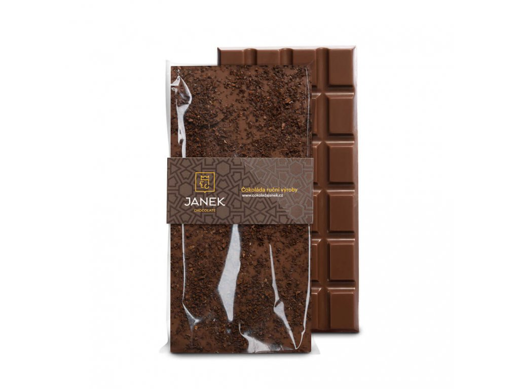 Mléčná čokoláda s kávou