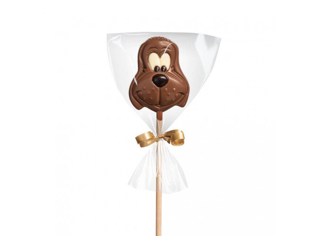 Čokoládové lízátko – pejsek