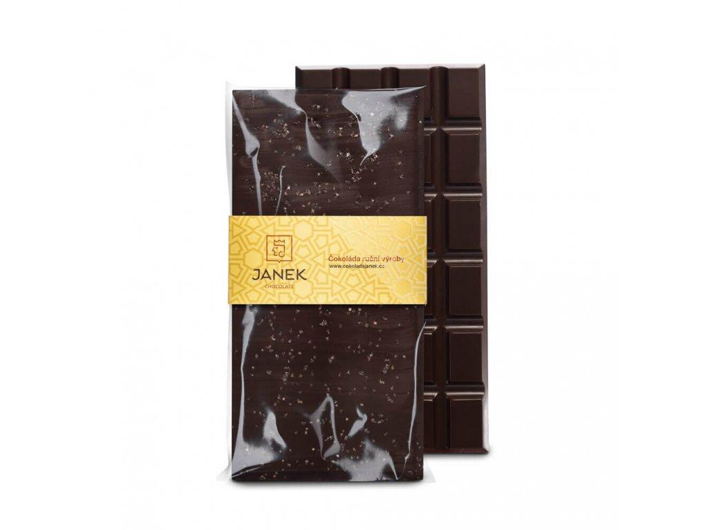 Hořká čokoláda se solí