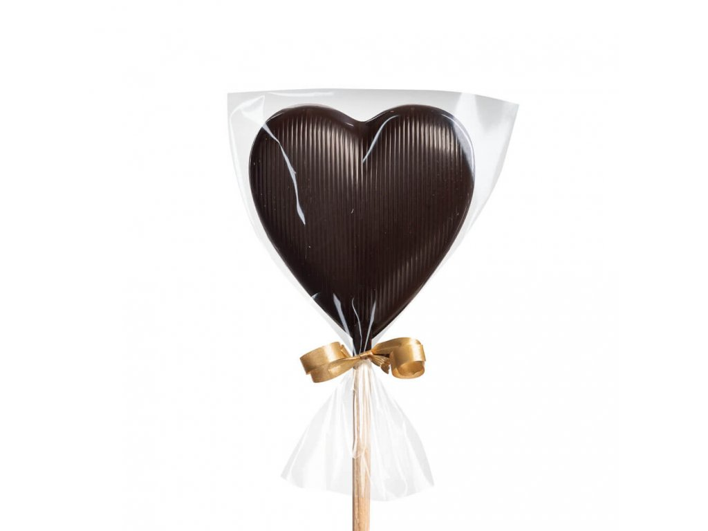 Hořké čokoládové lízátko – srdíčko