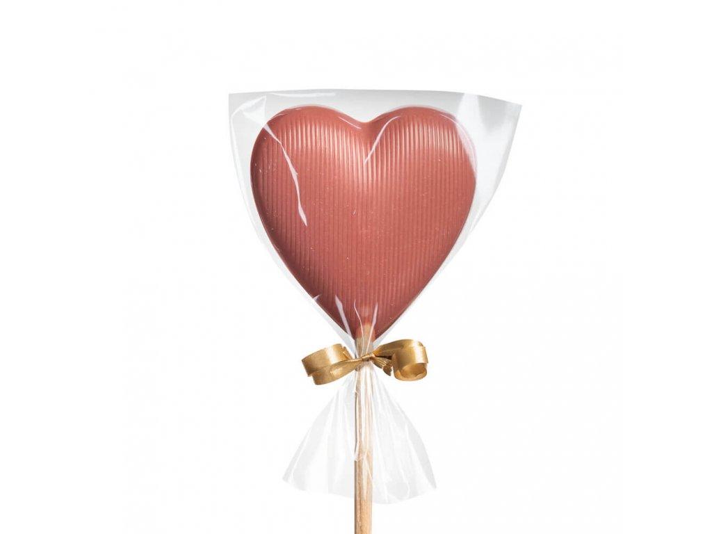 Čokoládové lízátko ruby – srdíčko