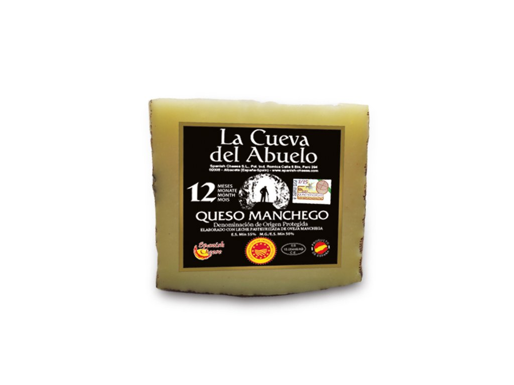 Sýr Manchego zrání 12 měsíců
