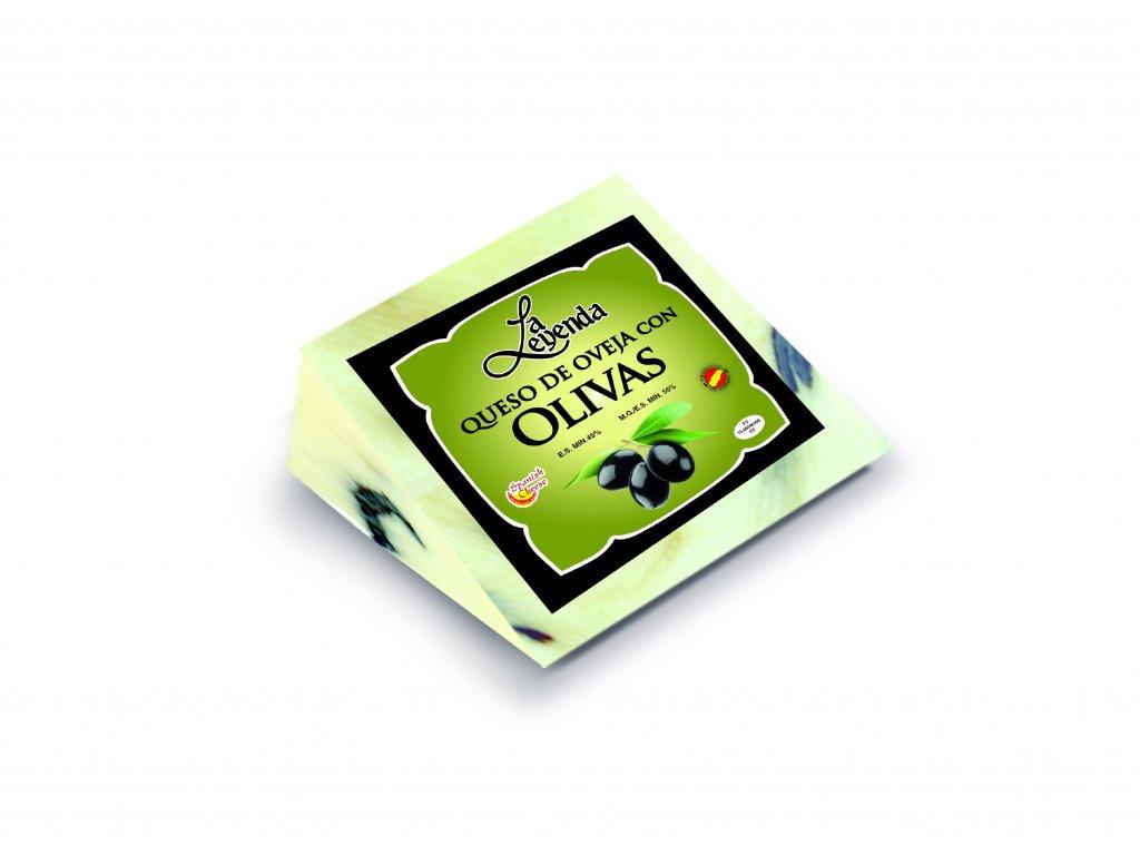 Ovčí sýr s černýma olivama