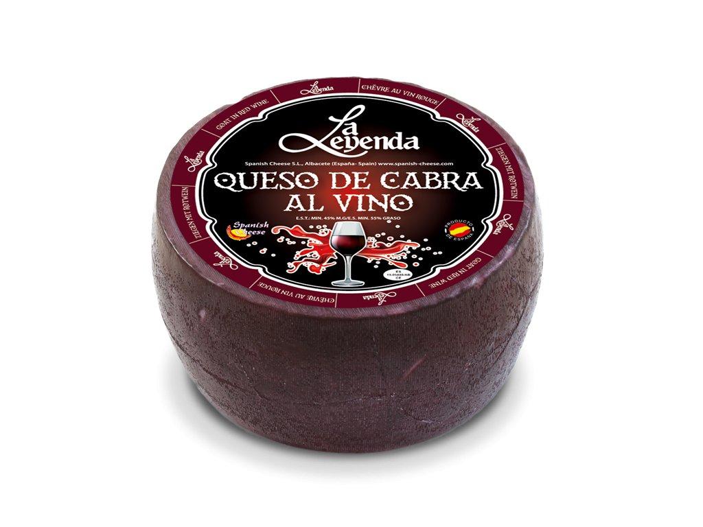 kozí sýr na červeném víně
