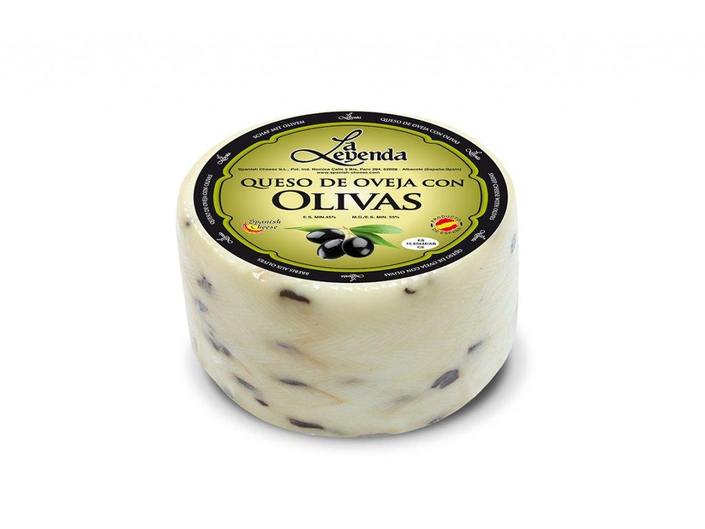 Ovčí sýr s černýma olivama 1 kg