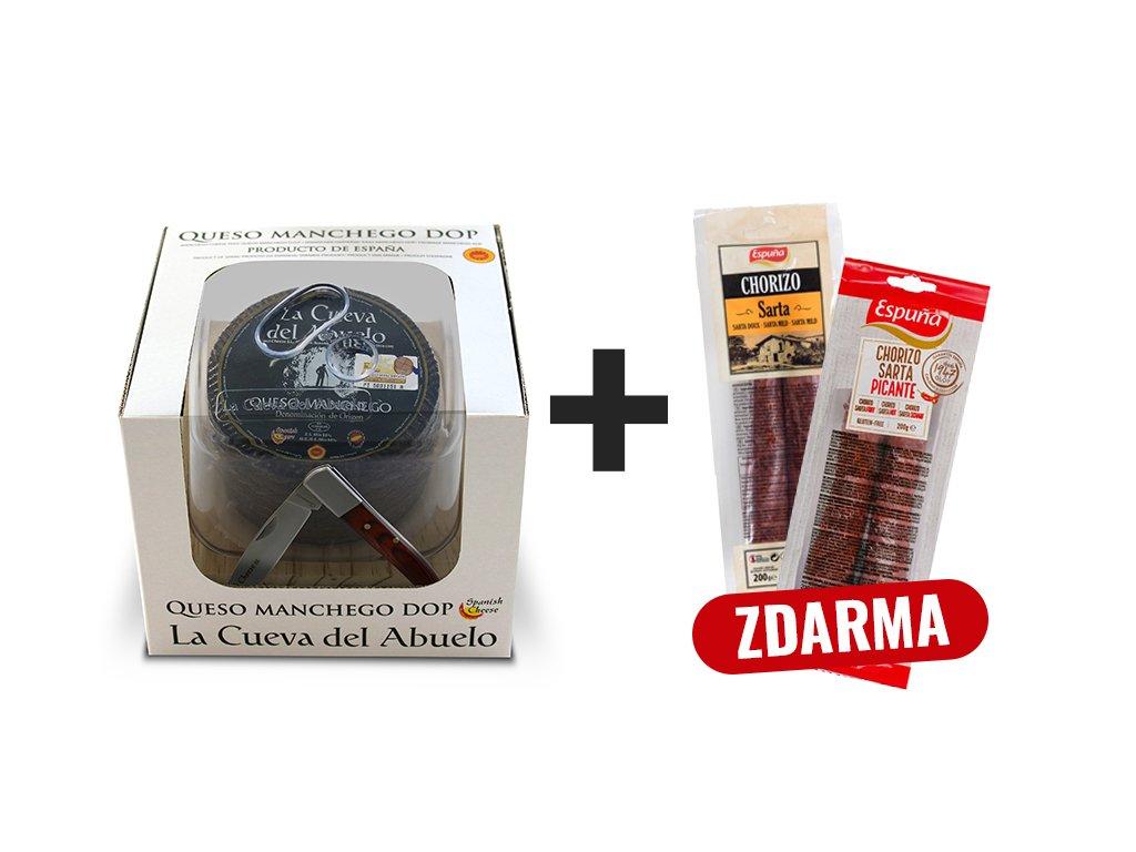 Produkt Syr Manchego + Chorizo