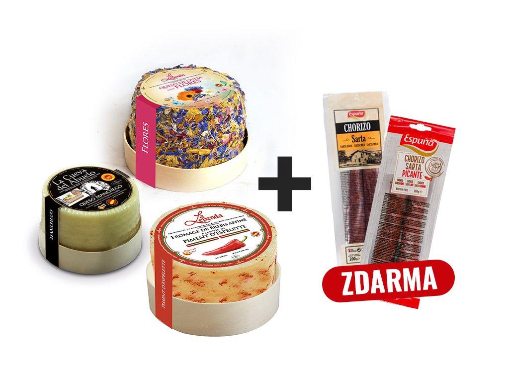 Produkt Syr Set 3 + Chorizo