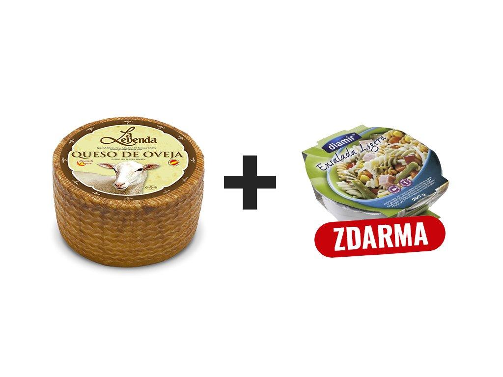 Ovčí sýr polotvrdý + salat