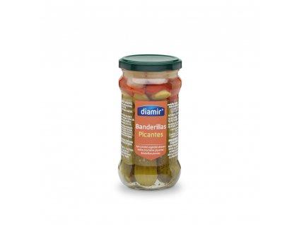 Banderillas zeleninové špízy pikantní sklenice 314 ml