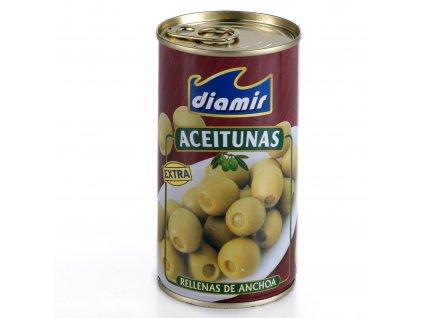 Zelené olivy plněné ančovičkami 120 g