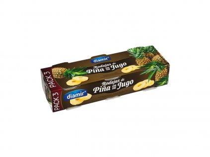 Ananasové plátky ve vlastní štávě konzerva 3 x 227 g pack-3 extra f. A