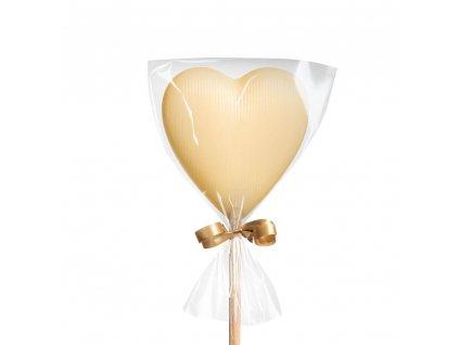 Bílé čokoládové lízátko – srdíčko