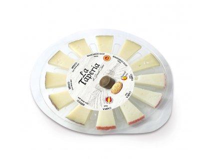 sada třech tradičních sýrů