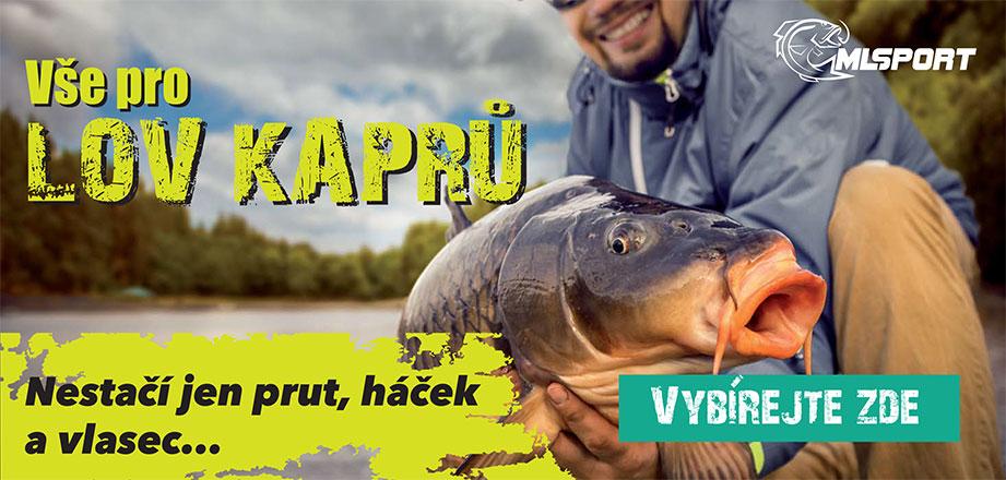 Veškeré příslušenství a rybářské potřeby k lovu kaprů
