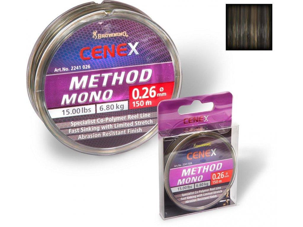 Vlasec na method feeder Browning Cenex Method Mono 150 m (cenex 0,20mm 3,65kg)