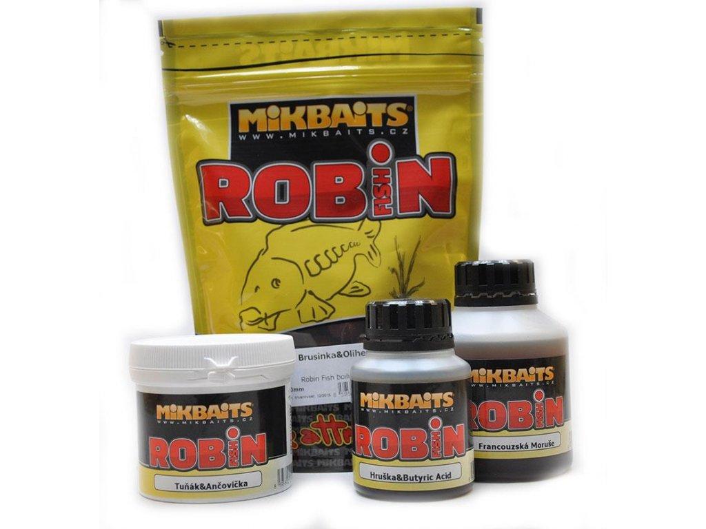 Mikbaits boilies Robin Fish 400g 16mm (Příchutě Máslová hruška)
