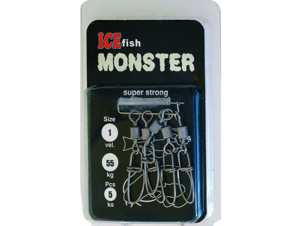 Karabina s obratlíkem monster (Velikost 2/0)