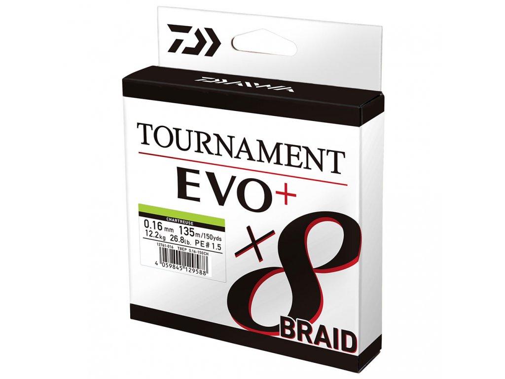 Daiwa Tournament 8-Braid EVO chartrouse (8 braid tournament 0,20mm 18kg)