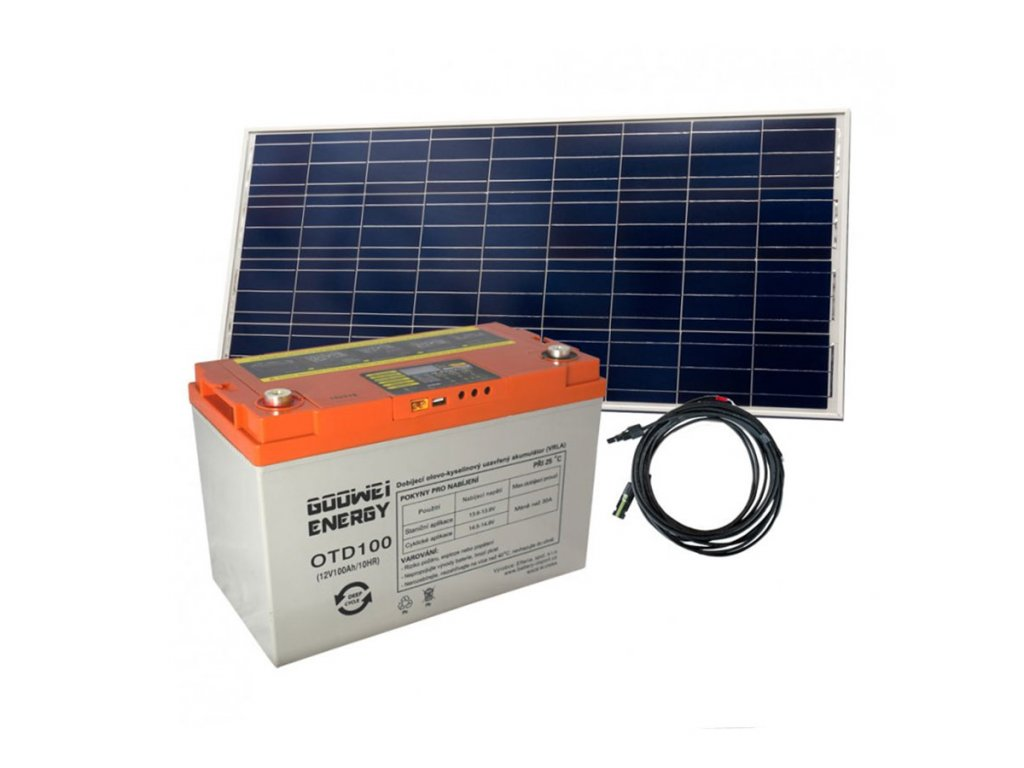 Baterie + solární panel OTD