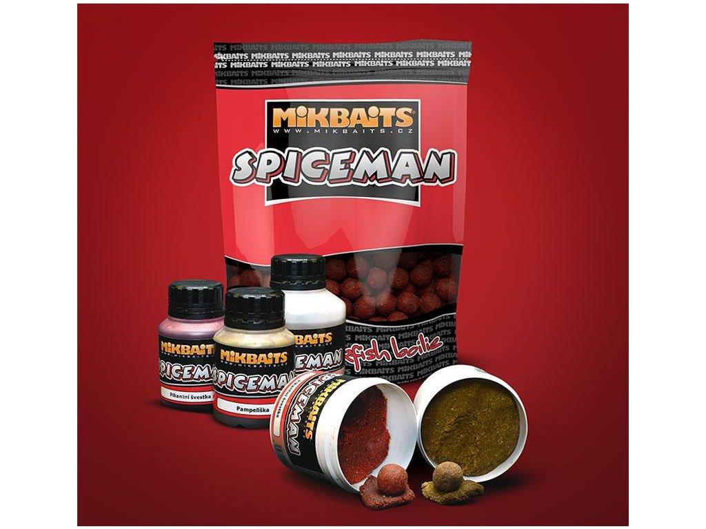 Boilie Mikbaits Spiceman 20mm 1kg (Příchutě Kořeněná játra)