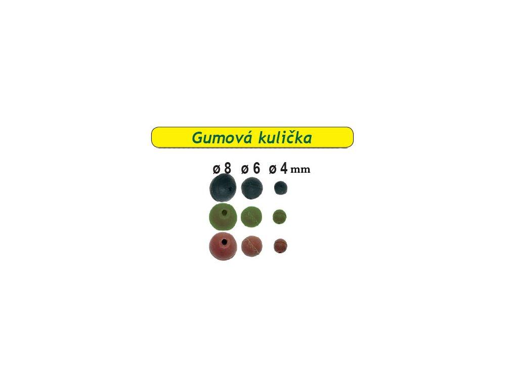 Kulička gumová 20ks (Průměr 6mm)