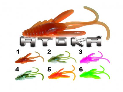 Nástraha na přívlač mikro nymfa ATOKA 9ks (Barva 1)