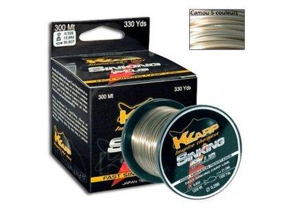 Kaprový vlasec K-Karp 300m (Průměr vlasce 0,255mm 8,36kg)
